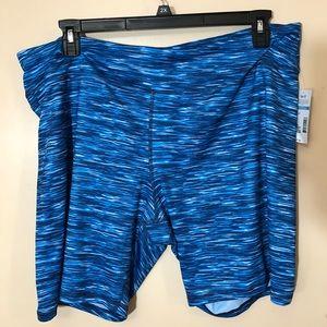 Pants - Plus size biker shorts
